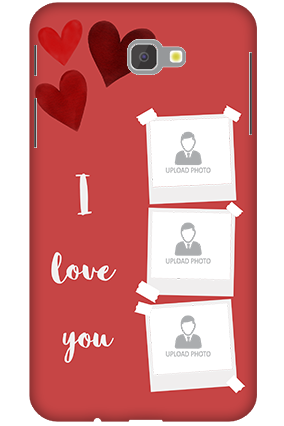 3D-Samsung Galaxy J7 Prime Beautiful Hearts Customized Mobile Cover