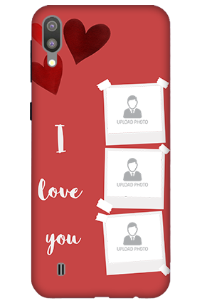 3D-Samsung Galaxy M10 Beautiful Hearts Customized Mobile Cover