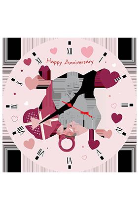 Beautiful Hearts Personalized Round Wall Clock