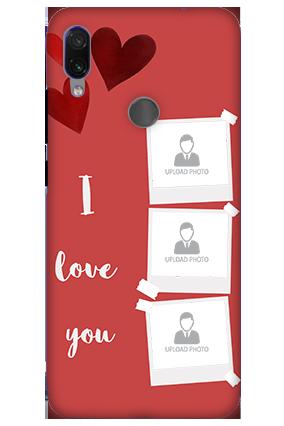 3D-Xiaomi Redmi Note 7 Pro Beautiful Hearts Customized Mobile Cover