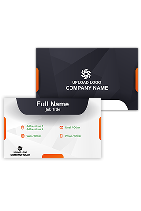Orange and Blue Customized Information and Technology Visiting Card