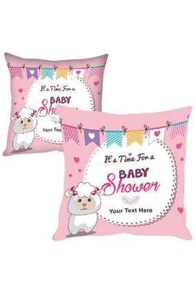 It is Time For a Baby Shower Cushion Cover
