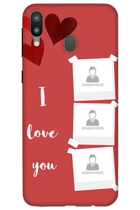 3D-Samsung Galaxy M20 Beautiful Hearts Customized Mobile Cover