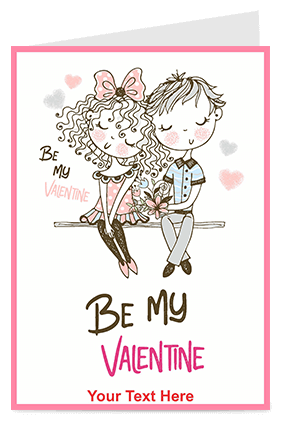 Be My Valentine Valentine's Day Greeting Card