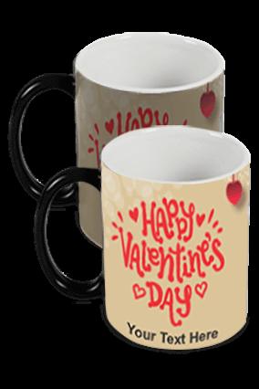 Beautiful Happy Valentine's Day Black Magic Mug