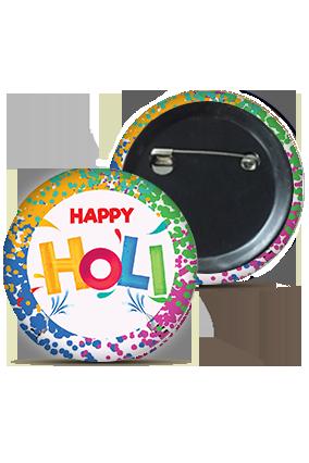 Designer Customized Holi Badges