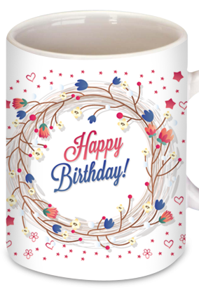 Printed Soothing Birthday Coffee Mug
