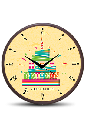 Birthday Wooden Wall Clock
