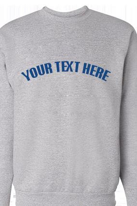 Custom Text Curve Blue Print Gray Sweatshirt