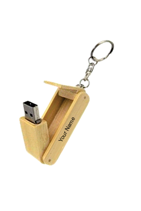 Wooden Folding Key Ring Pen Drive