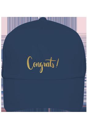 Amazing Congrats Cotton Blue Cap
