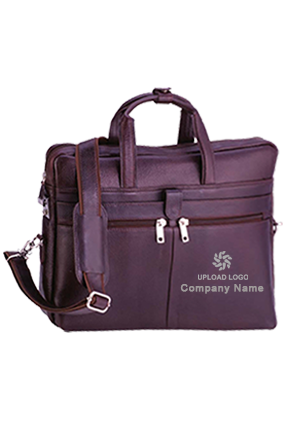 Executive Bag Leather NDM Brown GE-1154