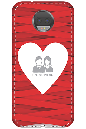 Custom 3D-Motorola Moto G5s Plus Big Heart Valentine's Day Mobile Cover