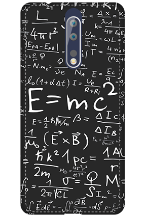 3D - Nokia 8 Einstein Tribute Case Mobile Cover