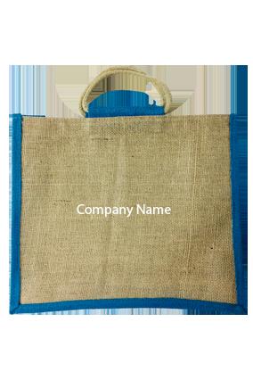 Company Name Horizontal Jute Bottle Bag 06
