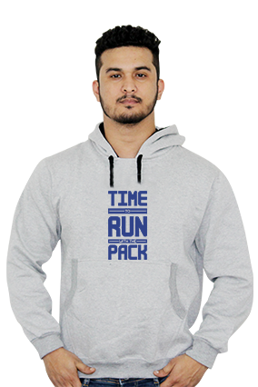 Customize Time To Run With Pack Full Sleeves Hoodie
