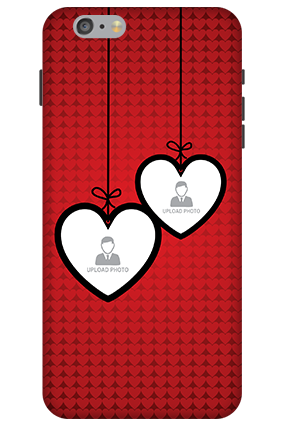3D - Apple iPhone 6 Plus Luxury Red Hanging Heart Mobile Cover