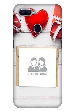 Customized 3D-Oppo F9 Decent Handmade Heart Mobile Cover
