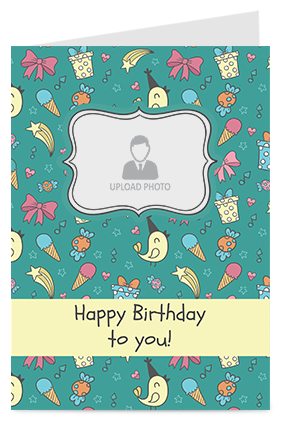 Funky Happy Birthday Greeting Card