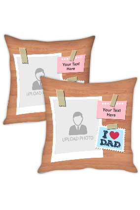 I Love Dad Personalized Cushion Cover