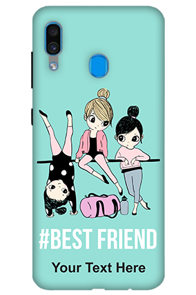 3D-Samsung Galaxy A30 Best Friends Personalized Mobile Cover