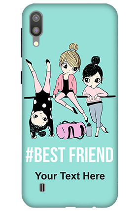 3D-Samsung Galaxy M10 Best Friends Personalized Mobile Cover