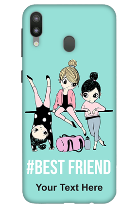 3D-Samsung Galaxy M20 Best Friends Personalized Mobile Cover