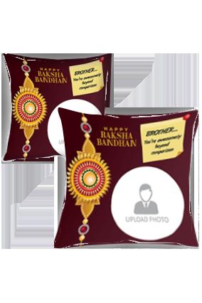 Perfect Brother Personalized Raksha Bandhan Cushion Cover
