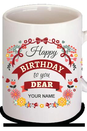Personalized Birthday Wishes Dear Coffee Mug