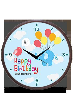 Happy Birthday Wooden Wall Clock