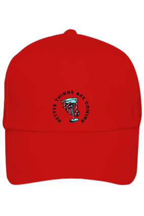 Better Things Are Coming Cotton Red Cap