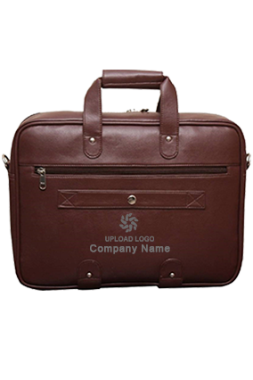 Synthetic Leather Laptop Black Executive Office Bag Brown
