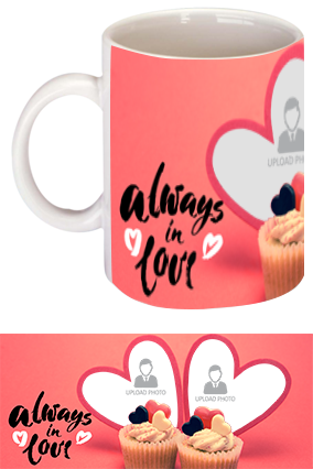 Always in Love Ceramic Valentine Mug