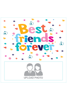 Best Friends Square Canvas Print