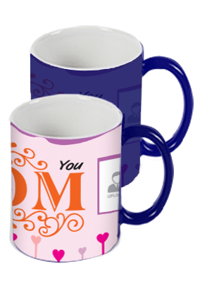 Love You Mom Blue Magic Mug