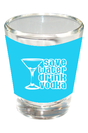 Save Water Drink Vodka Funky Shot Glass