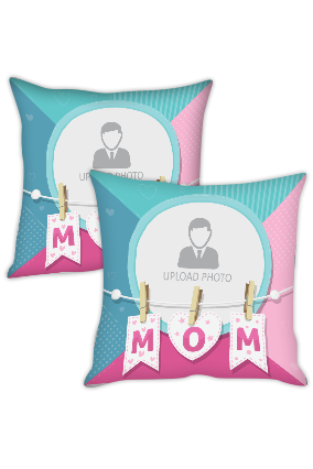 I Love Mom Personalized Cushion Cover
