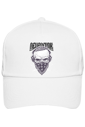 Soldier With Mask Cotton White Cap