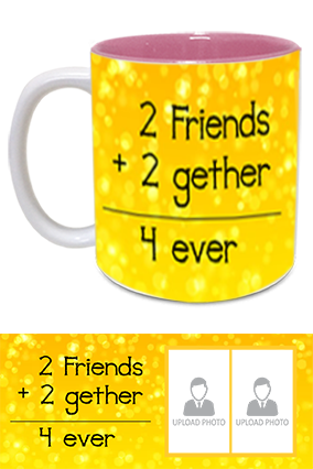 Friends Forever Printed Inside Pink Mug