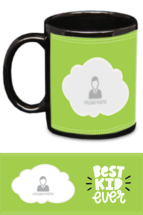 Best Kid Ever Photo Printed Kids Designer Black Patch Mug