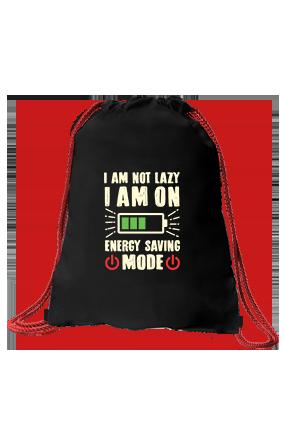 I am Not Lazy Black Sack Bag