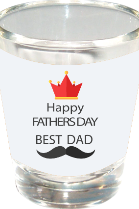 Coolest Dad Happy Fathers Day Shot Glass