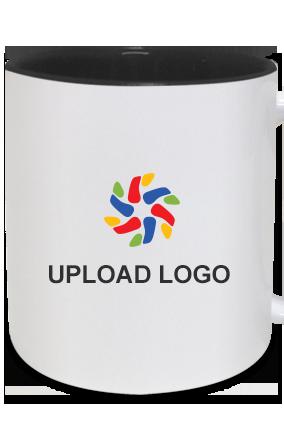 Upload Logo Inside Black Mug