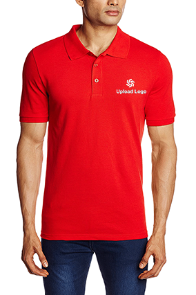 Customized Upload Logo Red ESN Polo T-Shirt - 82288509