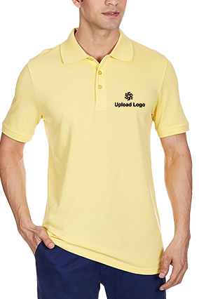 Custom Upload Logo Lemondrop Cotton Polo T-Shirt - 83695705