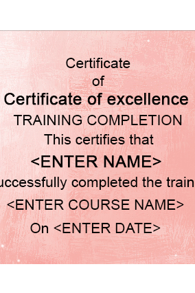 Elegant Beauty Salon Certificate