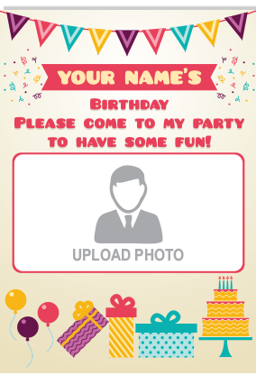 Personalised Awesome Birthday Invitation Card