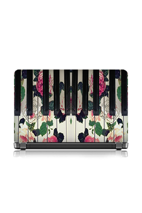 Blossomed Piano Laptop Skin