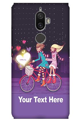 3D - Lenovo K8 Plus Ride Valentine's Day Mobile Cover