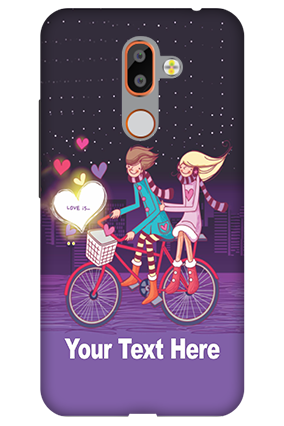 Customized 3D-Nokia 7 Plus Ride Valentine's Day Mobile Cover